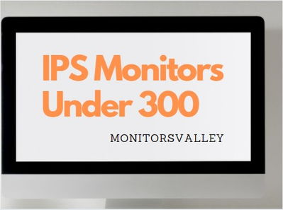 Best IPS Monitor under 300
